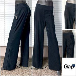 NWT🤩|•GAP•| Side Zip Faux Silk Palazzo Pants